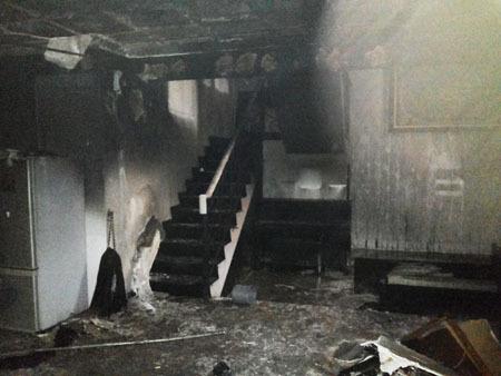 kebakaran di rumah uje